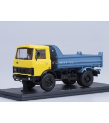 MAZ-5551 dumper truck - yellow-blue