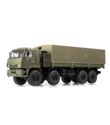 KAMAZ-6560 flatbed truck with tent /khaki/