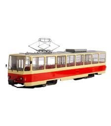 Tatra-T6B5 tram /red-beige/