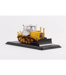 Caterpillar Tractor T-150 with Plow (yellow-white)