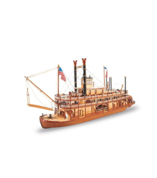 """1:80 """"Кралят на Мисисипи II"""", параход (King of the Mississippi II Steamboat) - Модел на кораб от дърво"""
