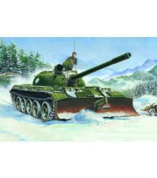 1:35 Съветски танк  T-55 Модел 1958 с гребло БТУ-55