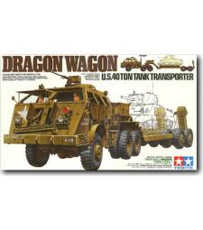 1:35 Тежък влекач с платформа на САЩ, 40 тонен  -  Dragon Wagon U.S. 40 Ton Tank Transporter