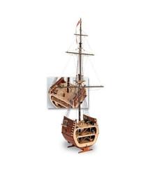 1:50 Част от галеона Свети Франциск II (The Section of San Francisco) - Модел на кораб от дърво