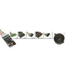 "LoKSound V4.0 ""Универсален звук за препрограмиране"", 6-пинов NEM651, Мащаб 0, H0"