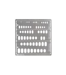 Шаблон за моделиране (заоблени правоъгълници, 1-6 мм) за напреднали моделисти