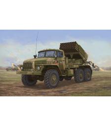 """1:35 Съветска ракетна система БМ-21 /BM-21/ """"Hail MRL"""" късна версия"""