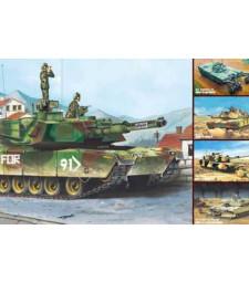 1:35 Американски танк М1А1/А2 Ейбрамс 5 в 1 (M1A1/A2 Abrams 5 in 1)
