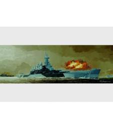 1:350 Боен кораб на САЩ USS BB-55 North Carolina