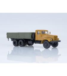KRAZ-257B1 flatbed truck - orange-grey