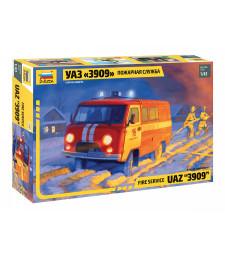1:43 Пожарна кола УАЗ 3909 (UAZ 3909 FIREFIGHTER CAR)