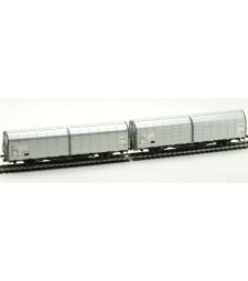 Комплект товарни вагони с плъзгащи се страни на БДЖ, тип Hbbillns, епоха VI