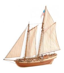 """1:41 """"Вирджиния"""", американска шхуна (Virginia American Shooner) - Модел на кораб от дърво"""