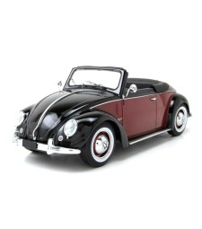 Volkswagen 1200 Hebmuller Convertible 1949 Black/Dark Red - Limited Edition 1000 pcs.