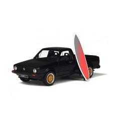 Volkswagen Golf Caddy Blue Surfboard