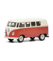 VW T1 bus, red/beige