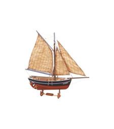 """1:25 """"Щастливо завръщане"""" (Bon Retour) - Модел на лодка от дърво"""