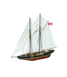 """1:75 Канадска шхуна """"Синия нос II"""" (Bluenose II) - Модел на кораб от дърво"""