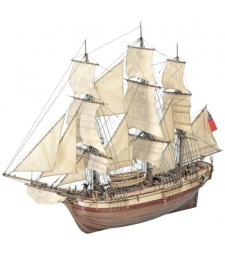 """1:48 """"Дар"""", фрегата на Негово Величество  - Модел на кораб от дърво"""