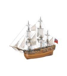 "1:60 Британски кораб ""HMS Endeavour"" - Модел на кораб от дърво"