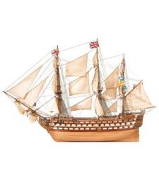 """1:84 """"Победа"""" - Модел на кораб от дърво"""