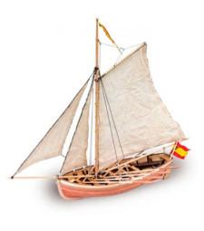 """1:25 Катер """"Сан Хуан от Непомук"""" (San Juan Nepomuceno's Cutter) - Модел на кораб от дърво"""