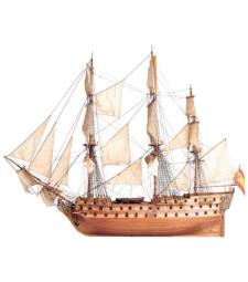"""1:90 """"Сан Хуан от Непомук"""" - Модел на кораб от дърво"""