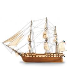 """1:85 """"Съзвездие"""", фрегата на американския флот, 1798 (US Frigate 1798 Constellation) - Модел на кораб от дърво"""