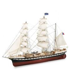 """1:75 Френски тренировъчен кораб """"Белем"""" (French Training Ship Belem) - Модел на кораб от дърво"""
