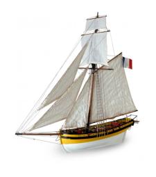 "1:50 ""Ренар Лисицата"", корсарски кораб (Le Renar - The Fox) - Модел на кораб от дърво"