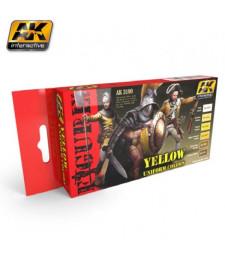 AK3190 YELLOW UNIFORM COLORS - Комплект бои за фигури (6 x 17 ml)