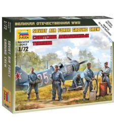 1:72 Съветски екип за авиационна поддръжка - 5 фигури - сглобка без лепило