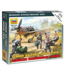 1:72 Германски екип за авиационна подръжка - 5 фигури - сглобка без лепило