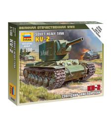 1:100 Съветски танк  КВ-2 /KV-2/ - сглобка без лепило