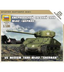 1:100 Танк на САЩ Sherman M-4 - сглобка без лепило