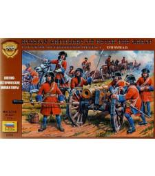 1:72 Руски артилеристи, Петър I Велики 17-18 век