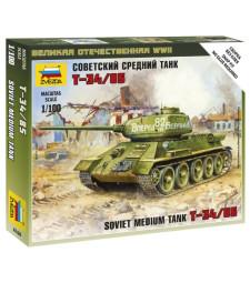 1:100 Съветски среден танк T-34-85 - сглобка без лепило