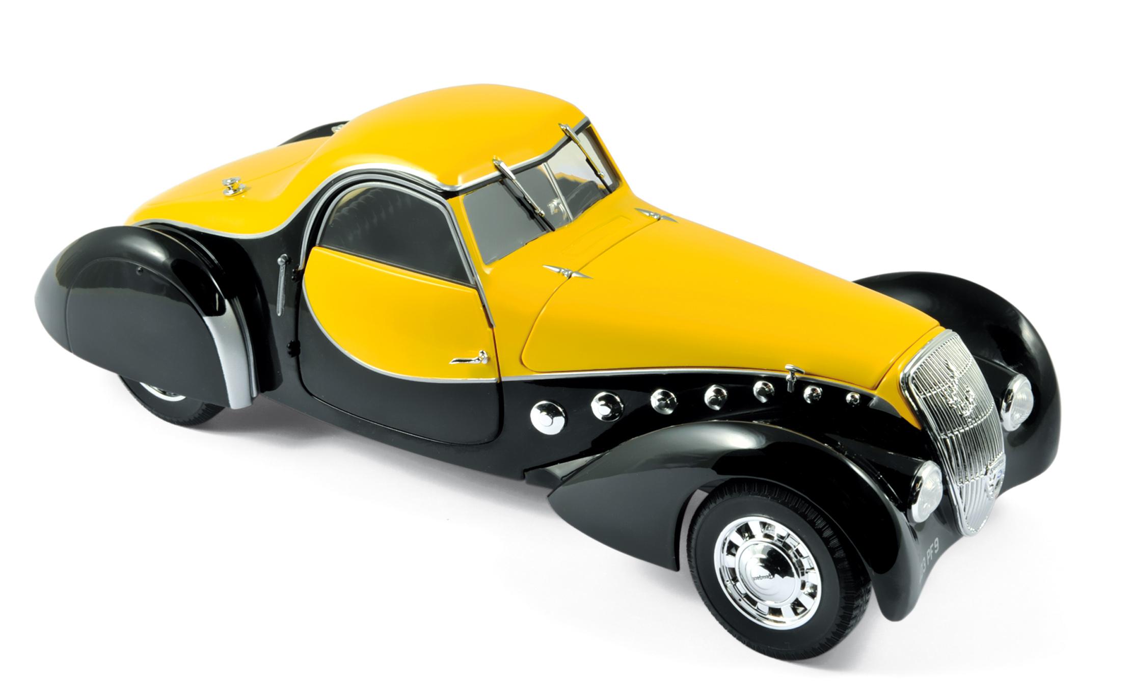 184716 Peugeot 302 Darl'Mat coupé 1937 black / yellow
