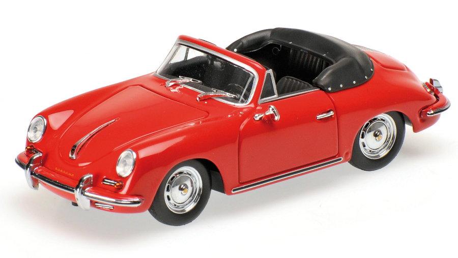 PORSCHE 356 B CABRIOLET - 1960 - RED